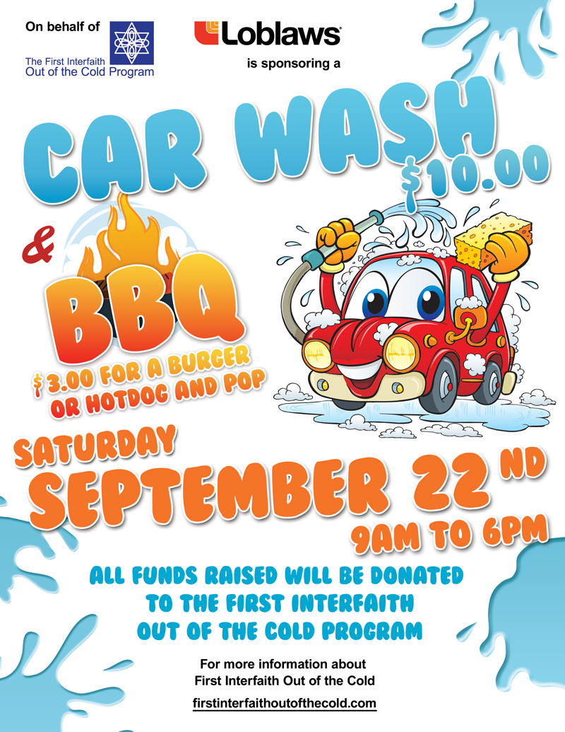 Car Wash Bbq Fundraiser Saturday Sept 22 First Interfaith Out Of